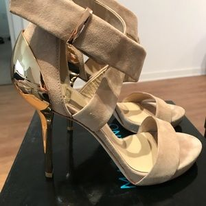 9acc4dc2c265 Marciano Shoes - Marciano Ciana Sandal. Light Natural Suede.